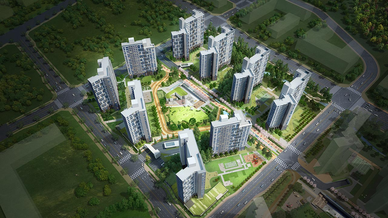 남악오룡 택지개발지구 34블럭 대우푸르지오아파트 신축공사